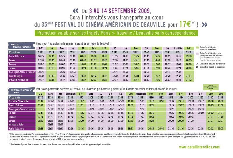 Sncf in the mood for deauville Horaires piscine deauville